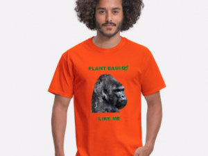 Men's T-Shirt -Plant based like me – Gorilla – vegan