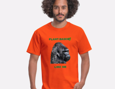 Men's T-Shirt -Plant based like me – Gorilla – vegan