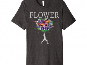 Yoga Flower Pansy bouquet T-shirt
