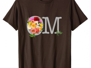 OM bouquet Yoga, Mediation or Happy Shirt T-Shirt