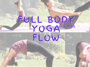 YOGA FULL BODY FLOW: flat belly abs, arm balances and backbends