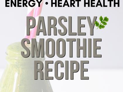 Parsley Green Smoothie Recipe