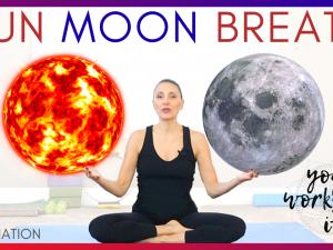 🌞SUN MOON BREATH Yoga Tutorial, BENEFITS  and Alternate Nostril Breath / Nadi Shodhana Pranayama 🌝