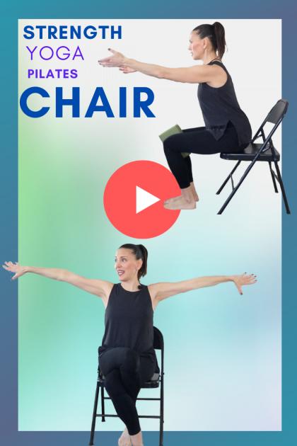 Senior Yoga CHAIR Strength Workout 💜Day 2